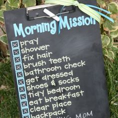 Chalkboard Clipboard This could be used in your home, classroom, or in your office!!  Great idea to stay on track and motivate/uplift yourself.