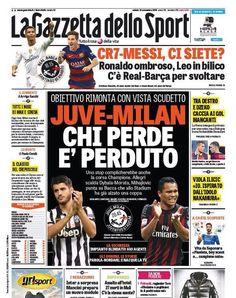 Rassegna stampa Italia: oggi Real Madrid-Barcellona e Juventus-Milan - http://www.maidirecalcio.com/2015/11/21/rassegna-stampa-italia-10.html