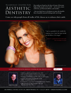 Dr. Dennis Wells smile design with prepless veneers for Miss Tennessee USA #DrDennisWells