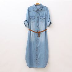 Mori girls Japanese style vintage long denim maxi dress with rivets 2015 hippie bohemian jean dresses gown robe vestodos gown * Click image to review more details.