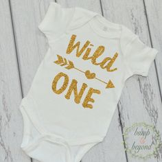 Personalized baby girl clothes pink and gold outfit for girls wild one first birthday shirt one year old birthday shirt gold wild one birthday outfit 1st birthday photo prop 023 negle Gallery