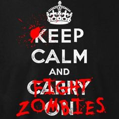 Keep calm and fight Zombies T-Shirt deutschlandweit versandkostenfrei bei NERD.DE bestellen!
