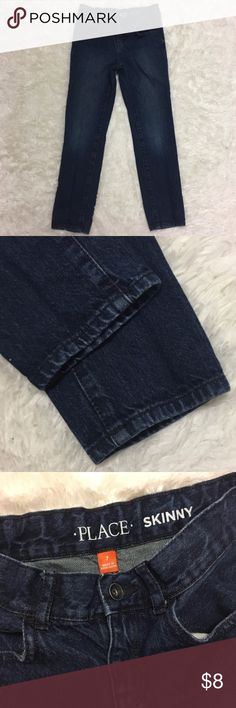 The Children's Place Skinny Jeans 🔘Description: The Children's Place Skinny Jeans dark wash boys size 7 excellent used condition    🔘Measurements:    Hip to Hip: 11.5 inches    Inseam: 22.5 inches       Inventory: E       Thanks for stopping by! The Children's Place Bottoms Jeans