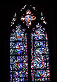 Stained glass in Duke University Chapel, a Gothic-style church dedicated in 1935    Location: Durham, North Carolina