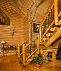 1000 images about log home interiors on pinterest log How to stain log cabin