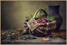 Irina Prikhodko Still Life Photos, Life Photography, Wicker Baskets, Raspberry, Painting, Masters, Home Decor, Art, Master's Degree