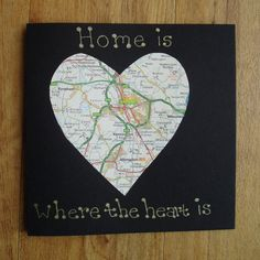 Home is where the heart is. New home card by onelittlepug on Etsy, $3.00