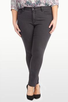 NYDJ - The Original Slimming Fit, JADE LEGGING - PLUS, grayling, Plus > Denim > Skinny, W72J36GY