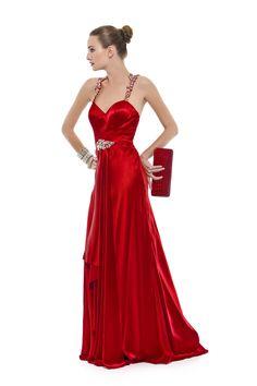 Vestido longo em seda pura com alças e costas bordadas em pérolas, strass e canutilhos. Cod. 101617vm   #zumzum #zumzumfesta #vestido #festa #vestidodefesta #dress #partydress