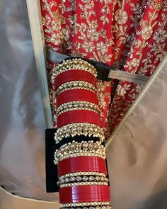 Indian Bengali Red Choora Chura Bridal Bangles Message us to customise and create you a bespoke bridal choora set within your budget We take video call appointments Brides outfit Frontier Raas