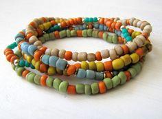 Beaded Stretch Bracelet Boho Bracelet Boho Jewelry Tribal Jewelry Bohemian Bracelet Stacking Bracelet Stack Bracelet Colorful Summer Jewelry by TwigsAndLace on Etsy https://www.etsy.com/listing/227755968/beaded-stretch-bracelet-boho-bracelet