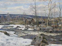 Frederik Collett (1839-1914): Den gamle stampe, 1906 Winter Painting, Paintings, Fine Art, Den, Outdoor, Art, Outdoors, Painting, Outdoor Games