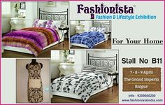 Give your bedroom a redefined makeover with Stylish & Comfortable Bedsheet Sets by FOR YOUR HOME on STALL NO. B11 at Fashionista - Fashion & Lifestyle Exhibition Raipur When: 7-8-9 April '17 Where: Hotel Grand Imperia, Raipur Timings: 11pm to 8pm ENTRY FREE for Visitors. #Raipur #FashionExhibition #Fashionista #LifestyleExhibition #shopping #Bedsheet #BedSheetSets #3DaysofHappiness #Shopaholics