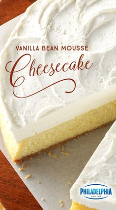 Keep your guests merry with Philadelphia Vanilla Bean Mousse Cheesecake. A buttery vanilla wafer crust topped with a light and delicate COOL WHIP mousse is just the beginning. With PHILADELPHIA Cream Cheese, this will be a treat you'll want every year.