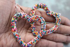 My Big Sweet Yummy Real Sprinkle Resin Open Heart by tranquilityy, $13.00