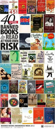 40 banned books
