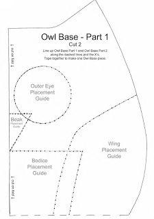 Bydehss: Owl Cushion / Port pajamas - Templates