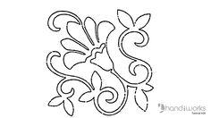 Hand Embroidery Flower | Braided Chain Stitch | HandiWorks #8