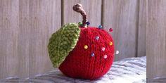 Красное яблоко. Спицами. Описание
