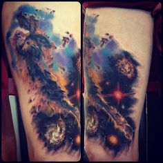 Nebula Universe Space Tattoo