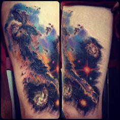 Nebula Universe Space Tattoo