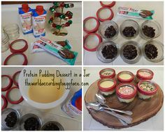 theworldaccordingtoeggface: #Eggface Holly Jolly @Premier Protein Pudding Jars #protein #dessert in a jar #MyOneMore #sponsored #Merry #Christmas  #health #WLS #fitness #friends