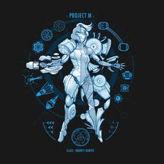 Project M T-Shirt - Metroid T-Shirt is $12.99 today at Once Upon a Tee!