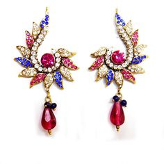 New Design of Earrings by MK Jewellers. Complete Collection Available here: http://www.indiebazaar.com/shop/mkjewellers/earrings?sort=mr