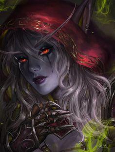 Sylvanas World of Warcraft Art Board ^^ // Blizzard // wow // // Digital  #Worldofwarcraft #WarcraftArt  #Geek #Wow #Digitalart #BlizzardArt #Art