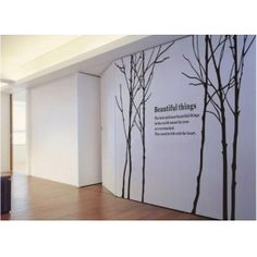 Large Beautiful thing trees Forest Elegant Wall Decor Decal Sticker Vinyl HW001