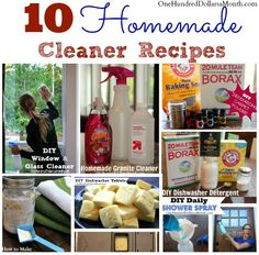 DIY Cleaner Roundup: 10 Homemade Cleaner Recipes