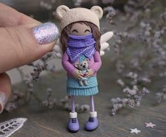ГЛИНОМАНИЯ: все о лепке! Полимерная глина! Polymer Clay Animals, Polymer Clay Dolls, Polymer Clay Charms, Fondant Figures, Crochet Hats, Polymers, Crafts, Handmade, Inspiration