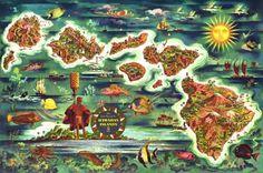 Dole Map of the Hawaiian Islands