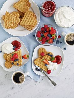 Create a sweet breakfast for your sweetheart on Valentine's Day! Heart-shaped IKEA VÅFFLOR waffles topped with whipped cream or jam and fresh fruit sounds like a delicious way to kick off the day.