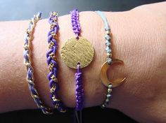 Macrame colorful  bracelets ... Create your own set !