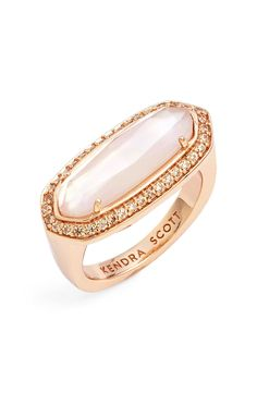 Play up the glam on any look with this rose gold ring from Kenda Scott. So chic!