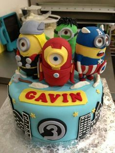 Roly wanted Avengers and minions...this is perfect!