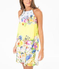 vestido babado floral bebel