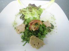 Spring Salad with Foie und Coriander Vinagrette