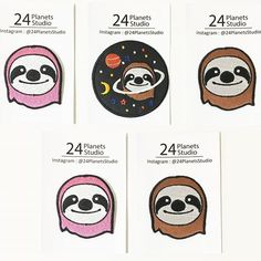 Sloth Iron on Patches by 24PlanetsStudio #24PlanetsStudio  #hipster #nerd #Geek #indie #shirt #jacket #bag #hat #cap #jeans #shopping #irononpatch #patch #etsy #etsyseller #girl #girls #cute #sloth #differencemakesus
