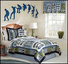 Boys room ideas on pinterest boy rooms boy bedrooms and for Boys skateboard bedroom ideas