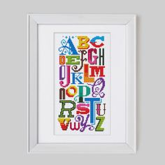 Bright Alphabet  Cross Stitch Pattern Digital by Stitchrovia,