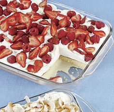 Boozy Berry-Topped Tres Leches Cake: This take on the classic Mexican tres leches cake is generously topped with tequila-spiked whipped cream and sweet, juicy summer berries. Via Fine Cooking