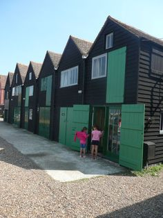 the fishermens huts at whitstable kent x