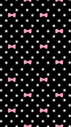 Pink and black bows