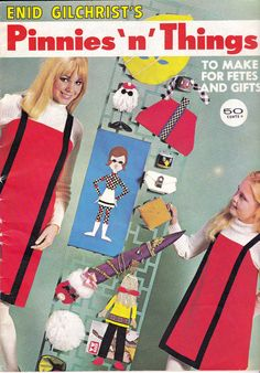 1970s Vintage Enid Gilchrist Pattern Drafting Book over 40 PATTERNS to draft and sew for Aprons Pinafores Toys and Gifts