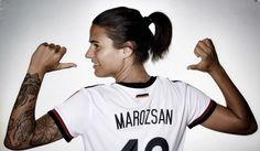 German footballer Dzsenifer Marozsan Sizzling photoshoot