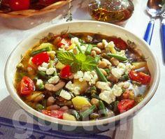 Görög zöldbableves feta sajttal Feta, Kung Pao Chicken, Soup, Meals, Cooking, Ethnic Recipes, Cook Books, Kitchen, Meal