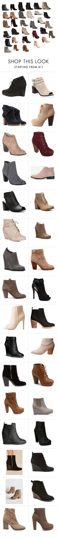 """""""Short boots"""" by samtiritilli666lol ❤ liked on Polyvore featuring rag & bone, UGG Australia, Charlotte Russe, Billini, MIA, Chinese Laundry, Modern Vintage, Audrey Brooke, Sole Society and Ash"""