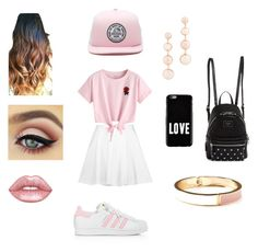 """""""Pinky Pretty Girl👄"""" by kleahuli-i on Polyvore featuring moda, Alice + Olivia, WithChic, adidas, Vans, GUESS, Givenchy, Lime Crime, Rebecca Minkoff e Old Navy"""